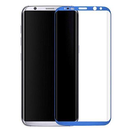 Hartowane szkło na cały ekran 3d Galaxy S8 Plus - Nebieski.