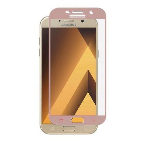 Galaxy A5 2017 hartowane szkło na cały ekran 3D - Różowy.