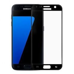Hartowane szkło na cały ekran 3d Galaxy S7 - Czarny.