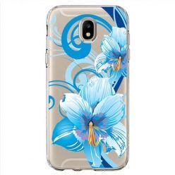 Etui na Samsung Galaxy J7 2017 - Niebieski kwiat północy.