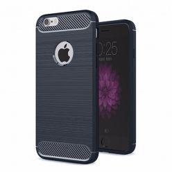 Etui na iPhone SE - bumper Neo CARBON - Granatowy.
