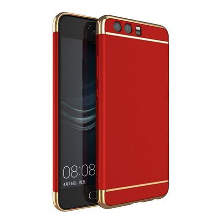 Etui na telefon Huawei P10 - Slim MattE Platynowane - Czerwony.