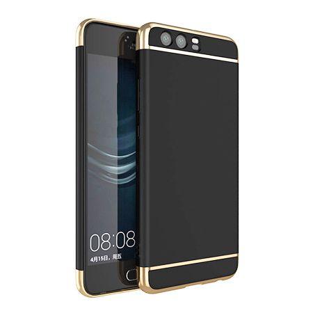 Etui na telefon Huawei P10 - Slim MattE Platynowane - Czarny.