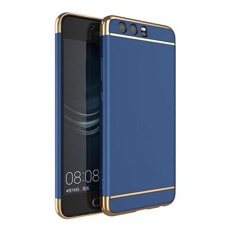 Etui na telefon Huawei P10 - Slim MattE Platynowane - Granatowy.