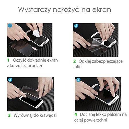 HOCO hartowane szkło na cały ekran 3d  iPhone 7 - Czarny.