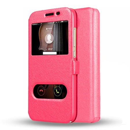 Etui na Huawei Y5 II - Flip Quick View z klapką dwa okienka - Różowy.