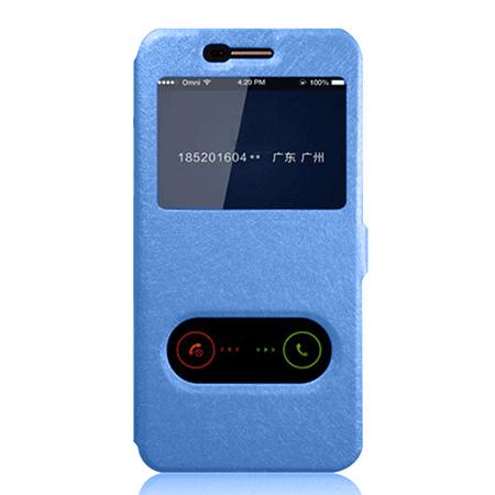 Etui na LG K8 2017 - Flip Quick View z klapką dwa okienka - Niebieski.