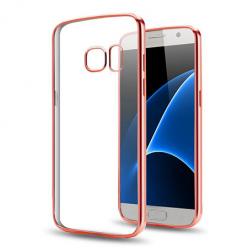 Etui na Samsung Galaxy S7 - silikonowe platynowane SLIM - Różowy.