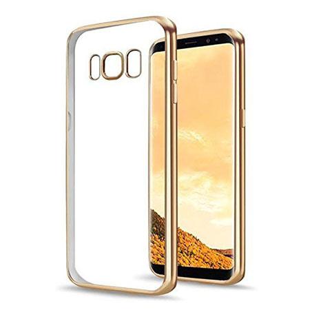 Etui na Samsung Galaxy S8 - silikonowe platynowane SLIM - Złoty.