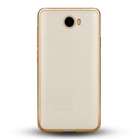 Etui na Huawei Y5 II - silikonowe platynowane SLIM - Złoty.