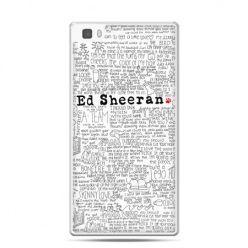 Huawei P8 Lite etui Ed Sheeran białe poziome - Promocja !!!