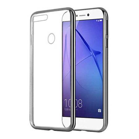 Etui na Huawei P Smart - silikonowe platynowane SLIM - Grafitowy.