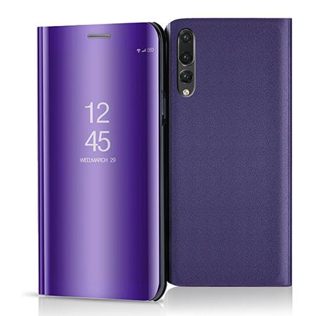 Etui na Huawei P20 Pro - Flip Clear View z klapką - Fioletowy.
