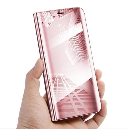 Etui na Huawei P20 Pro - Flip Clear View z klapką - Różowy.