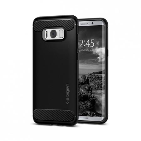 Etui na Samsung Galaxy S8 Plus  Spigen Rugged Armor - Czarny