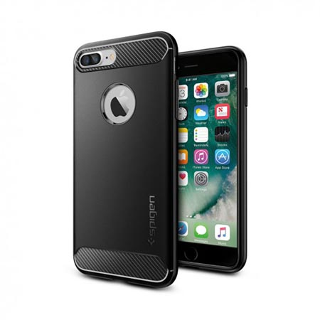 Etui na iPhone 7 Plus Spigen Rugged Armor - Czarny