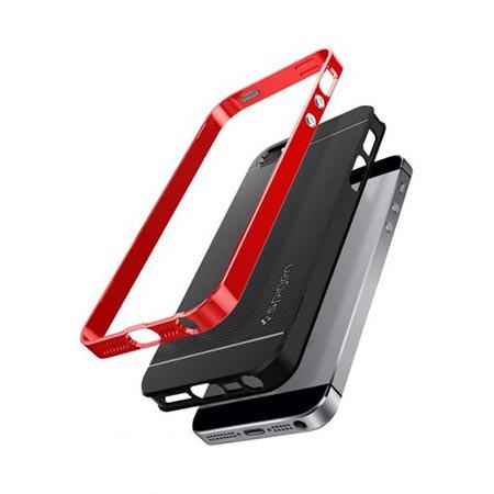 Etui Spigen na iPhone 5 / 5s Neo Hybrid - Czerwony