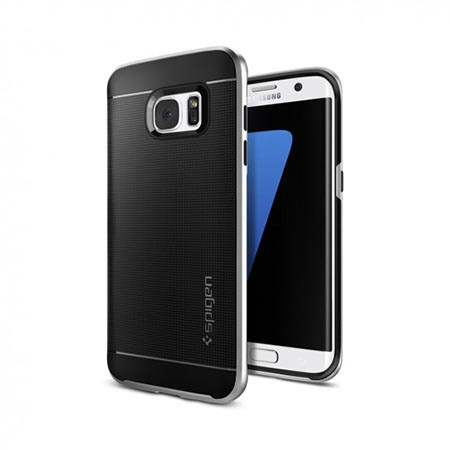 Etui Spigen na Samsung Galaxy S7 Edge Neo Hybrid - Srebrny