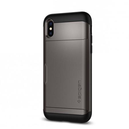 Etui Spigen na iPhone X - Slim Armor Srebrny