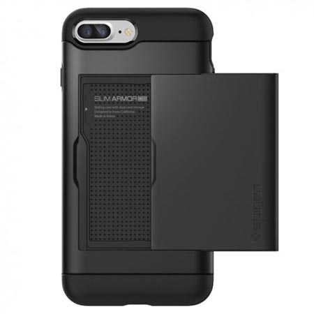 Etui Spigen na iPhone 8 Plus - Slim Armor Czarny