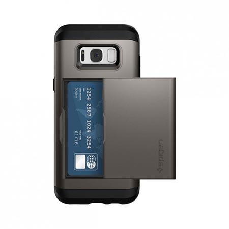 Etui Spigen na Samsung Galaxy S8 - Slim Armor Grafitowy