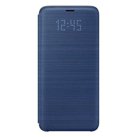 Etui na Samsung Galaxy S9 - LED View Niebieskie