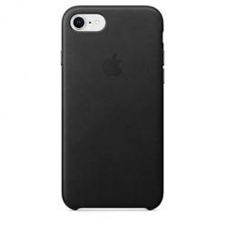 Oryginalne etui Apple na iPhone 8 Leather Case - Skórzane Czarny