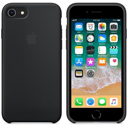 Etui na iPhone 8 Silicone Case - Czarny