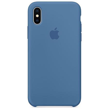 Oryginalne etui Apple na iPhone X Silicone Case - Niebieski