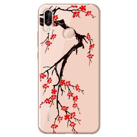 Etui na Huawei P20 Lite - Krzew kwitnącej wiśni