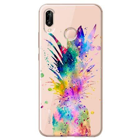 Etui na Huawei P20 Lite - Watercolor ananasowa eksplozja.