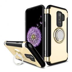 Etui na Samsung Galaxy S9 Plus - Pancerne Magnet Ring - Złoty.