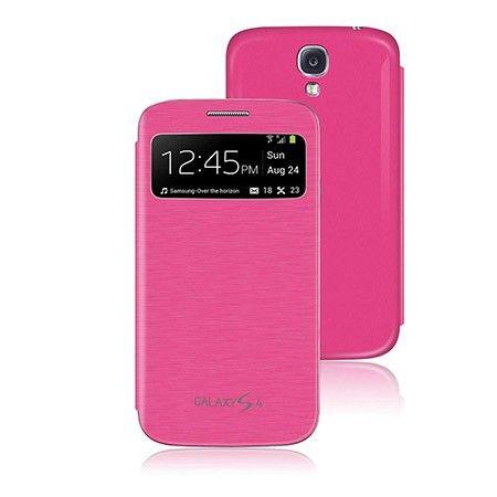 Samsung Galaxy S4 etui pokrowiec okienko flip cover- Różowy