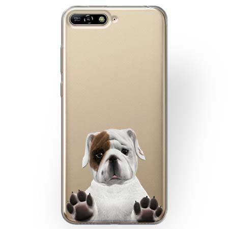 Etui na Huawei Y6 2018 - Słodki szczeniaczek.