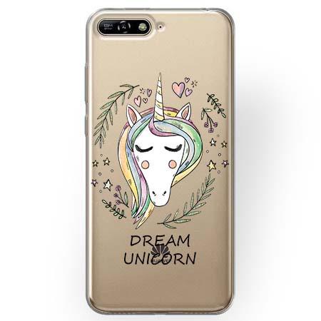 Etui na Huawei Y6 2018 - Dream unicorn - Jednorożec.