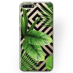 Etui na Huawei Y6 2018 - Egzotyczne liście bananowca.