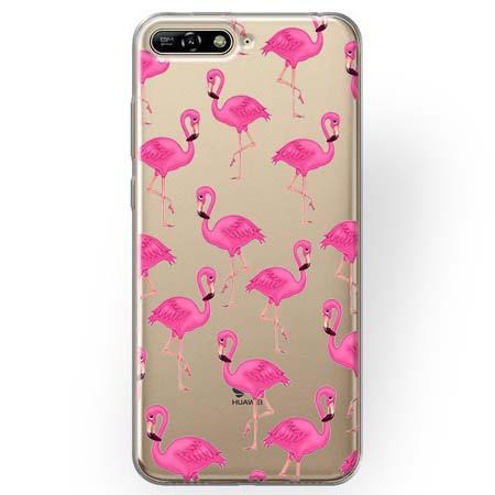 Etui na Huawei Y6 2018 - Różowe flamingi