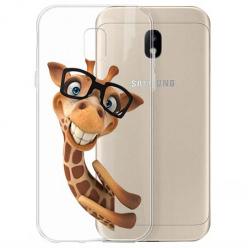 Etui na Samsung Galaxy J3 2017 - Wesoła żyrafa w okularach.