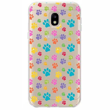 Etui na Samsung Galaxy J3 2017 - Kolorowe psie łapki