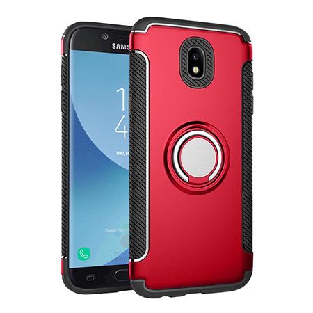 Etui na Samsung Galaxy J5 2017 - Pancerne Magnet Ring - Czerwony.