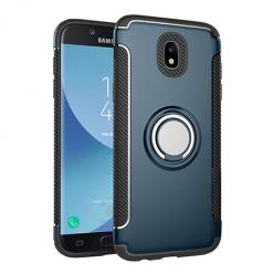 Etui na Samsung Galaxy J5 2017 - Pancerne Magnet Ring - Niebieski stalowy.