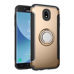 Etui na Samsung Galaxy J5 2017 - Pancerne Magnet Ring - Złoty.