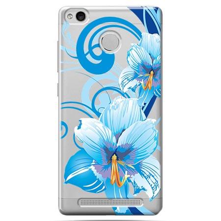 Etui na Xiaomi Redmi 3S - Niebieski kwiat północy.