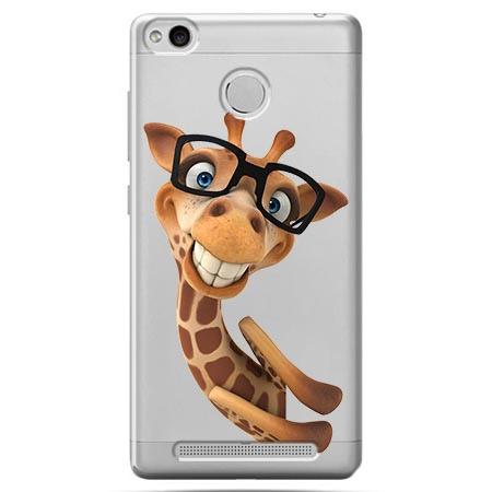Etui na Xiaomi Redmi 3S - Wesoła żyrafa w okularach.