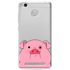 Etui na Xiaomi Redmi 3S - Słodka różowa świnka.