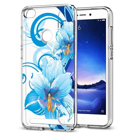 Etui na Xiaomi Redmi 3 Pro - Niebieski kwiat północy.