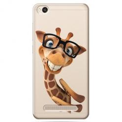 Etui na Xiaomi Redmi 4A - Wesoła żyrafa w okularach.