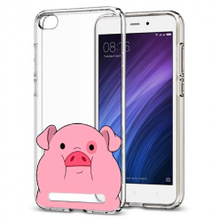 Etui na Xiaomi Redmi 4A - Słodka różowa świnka.