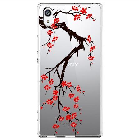 Etui na Sony Xperia XA1 - Krzew kwitnącej wiśni.