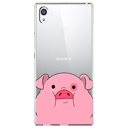 Etui na Sony Xperia XA1 - Słodka różowa świnka.